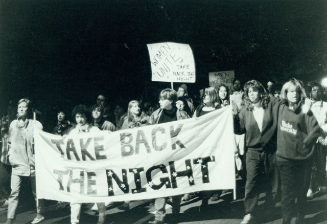 "Duke University ""Take Back the Night"" march (11/19/87)"