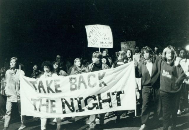 "Duke University ""Take Back the Night"" march (11/19/87)"
