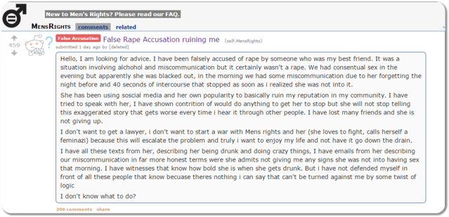 Reddit False Rape II