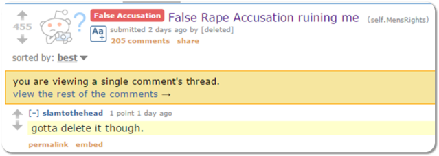 Reddit False Rape III