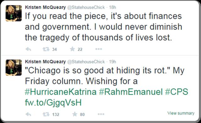 Kristen McQueary Tweet