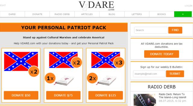 VDARE Confederate Flag