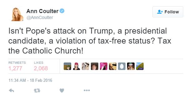Ann Coulter Tweet