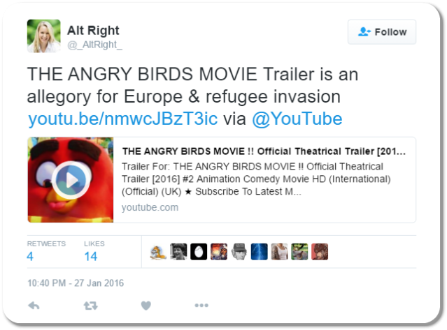 Alt Right Tweet 1