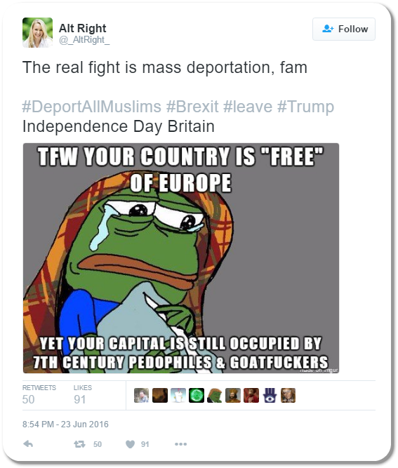 Alt Right Tweet