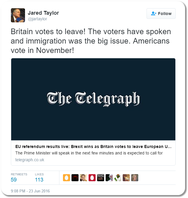 Jared Taylor Tweet