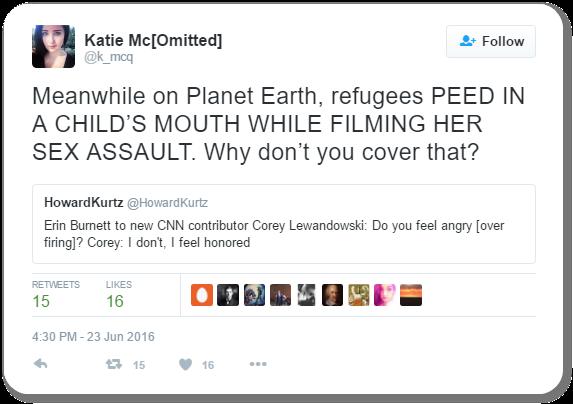 Katie McHugh Tweet