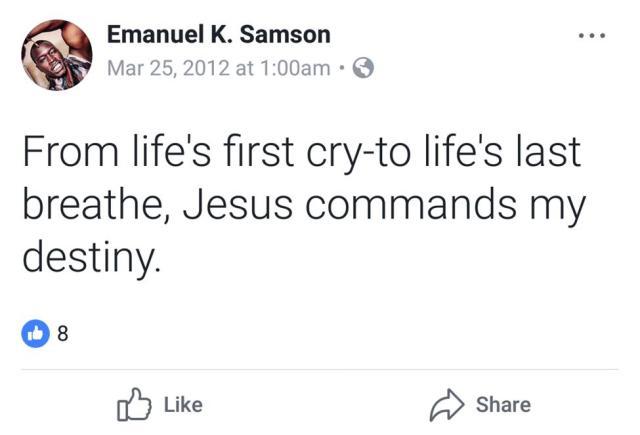 Samson Facebook 2