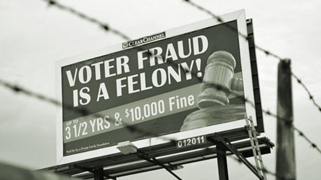 Voter Intimidation Billboard