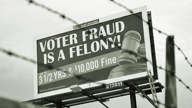 Voter Intimidation Billboard